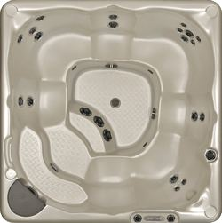 380 Hot Tub Model top view
