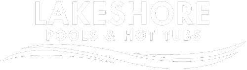 Lakeshore Pools & Hot Tubs Logo White Full