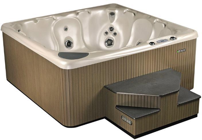 Hot Tub Model 590 Hybrid Alabaster Ebony Steel Lakeshore Pools & Hot Tubs