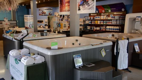 Lakeshore Pools & Hot Tubs Retail Storefront inside Mississauga