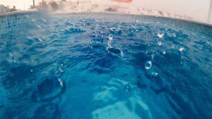 Heavy Rain Damage to the Pool Tips