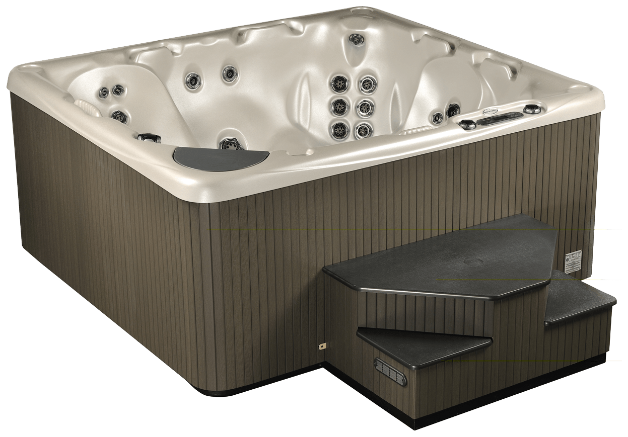 Hot Tub Model 725 angled view Lakeshore Pools & Hot Tubs