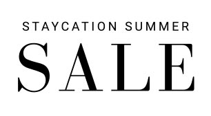 Staycation Summer SALE sign