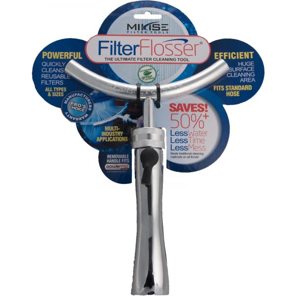 Pool Filter Flosser - saves 50% water, time and less mess