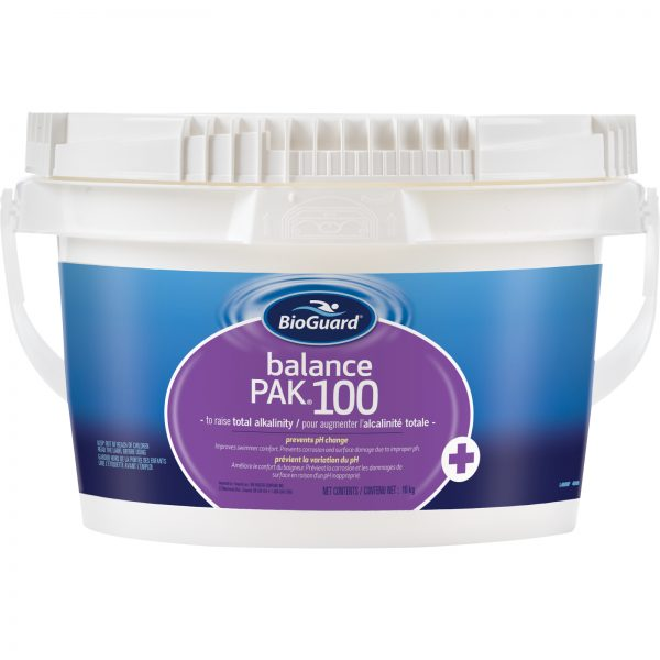 BioGuard Balance Pak 100 is used to raise the total alkalinity in pool water, prevents pH change 10 kg