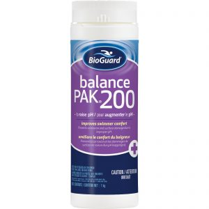 BioGuard Balance Pak 200 is used to raise the pH level in pool water