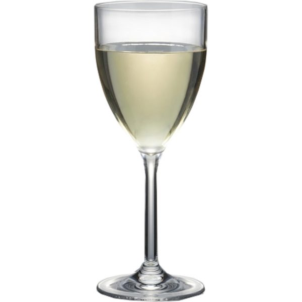 unbreakable white wine glass for pool or hot tub area