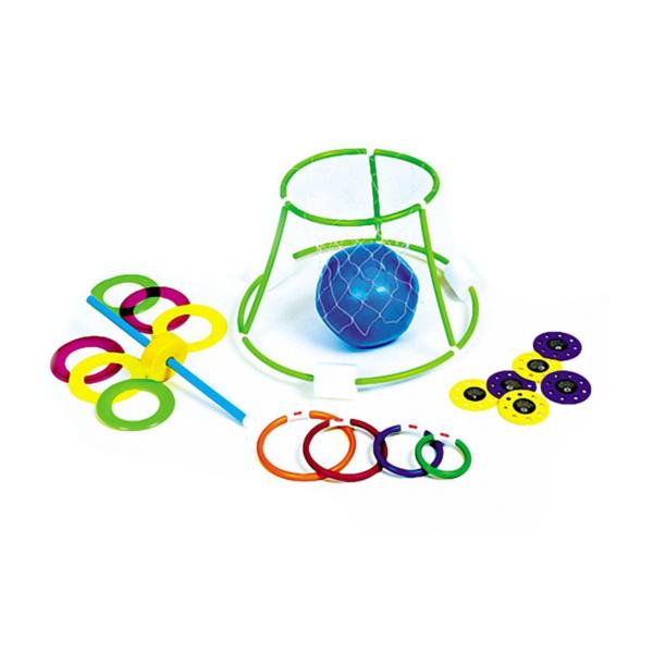 4 Game Family Fun Hoop Ball Dive Ring Toss Disc