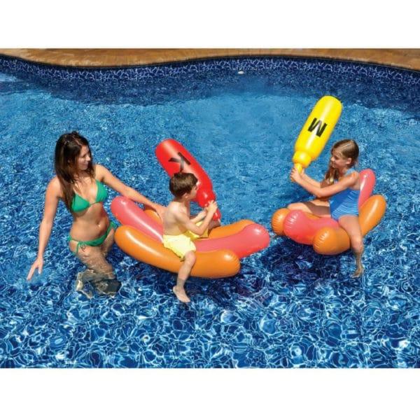 Swimline Hot Dog Battle Pool Float Toy