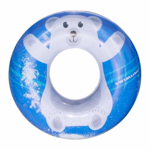 Swimline Polar Bear Ring Pool Tube Toy Float