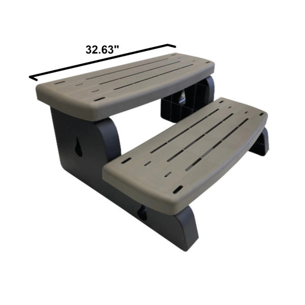 Free Standing Grey Hot Tub Step Dimensions
