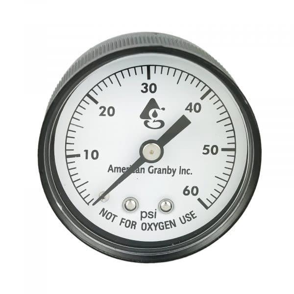 Cartridge Filter Pressure Gauge Back Mount