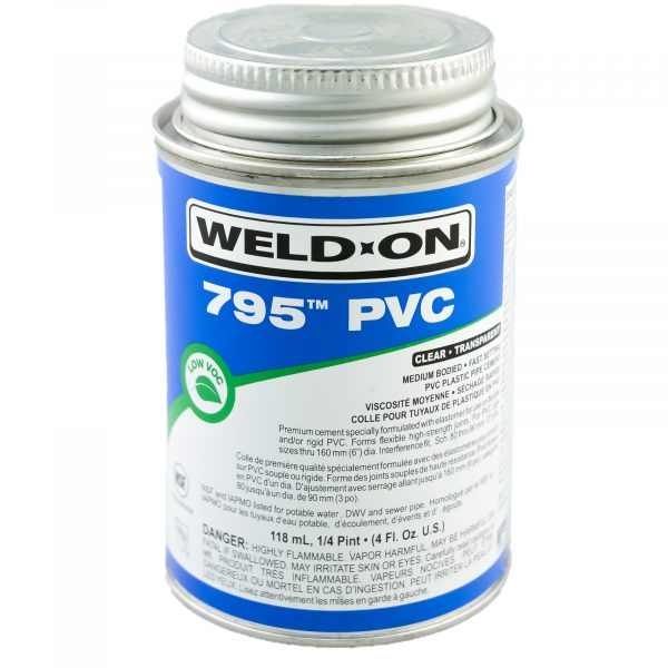 Weld On PVC 795 Glue Clear