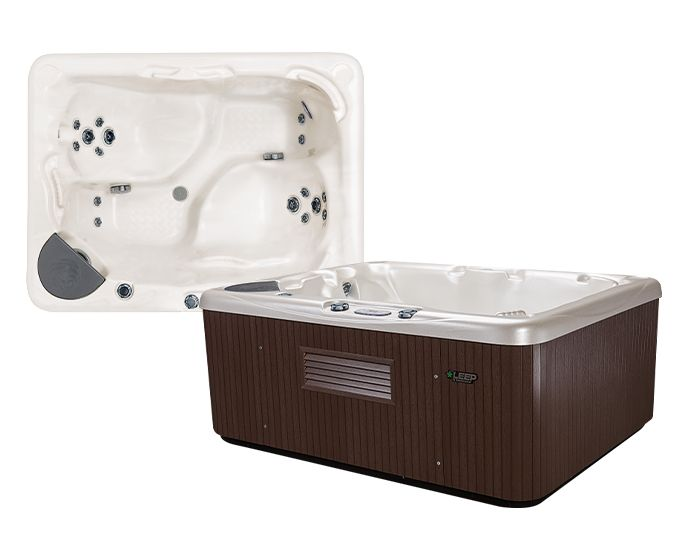 Beachcomber Hot Tub 510 LEEP Alabaster Walnut - setup