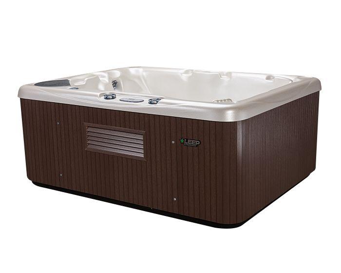 Beachcomber Hot Tub 510 LEEP Alabaster Walnut - side low