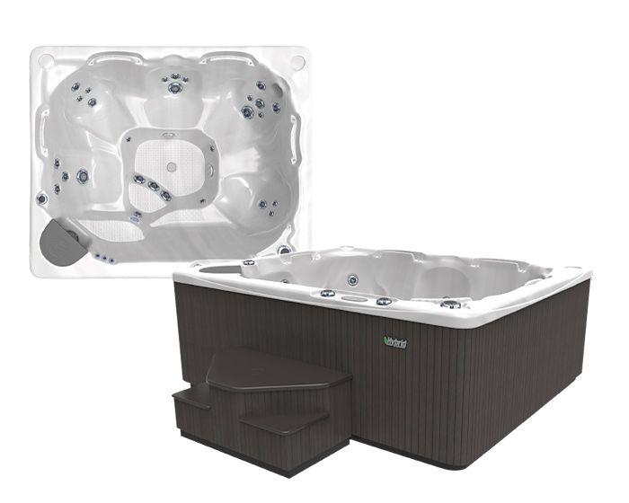 Beachcomber Hot Tub 540 HYBRID Opal Ebony Setup