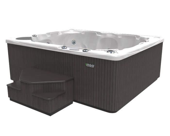 Beachcomber Hot Tub 540 HYBRID Opal Ebony side low