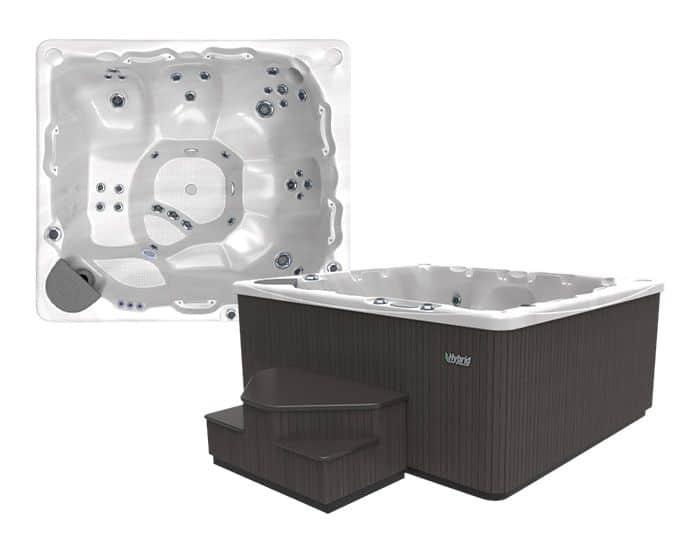 Beachcomber Hot Tub 550 HYBRID Opal Ebony - Setup