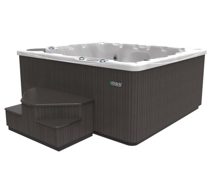 Beachcomber Hot Tub 550 HYBRID Opal Ebony - Side low