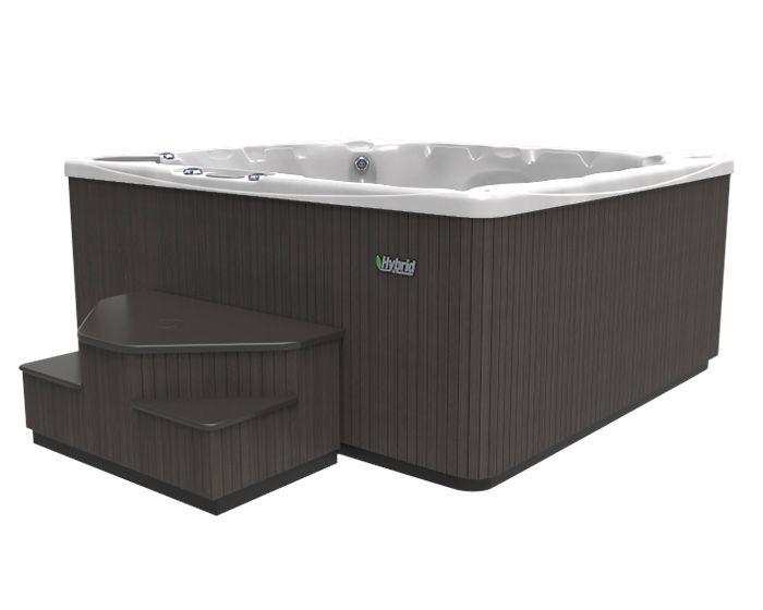 Beachcomber Hot Tub 570 HYBRID Opal Ebony - Side Low