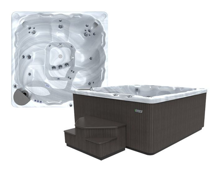 Beachcomber Hot Tub 590 HYBRID Terrazzo Ebony - Setup
