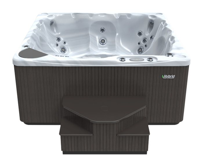 Beachcomber Hot Tub 590 HYBRID Terrazzo Ebony - Front