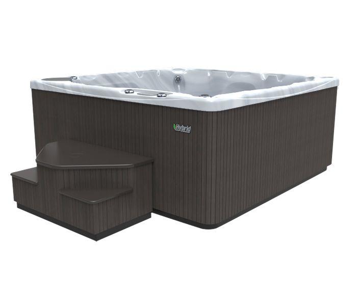 Beachcomber Hot Tub 590 HYBRID Terrazzo Ebony - Side Low